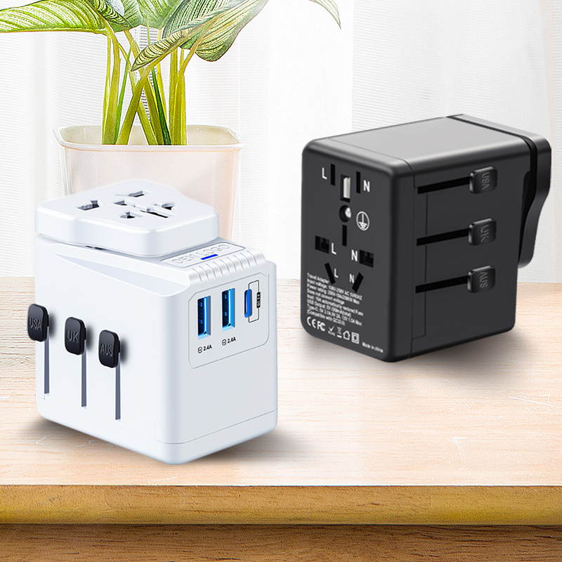 Universal Travel Adapter 3.4A Typ C 3 USB Internationalen Welt Power Stecker Adapter Kit Reise Wand Ladegerät USB Stecker