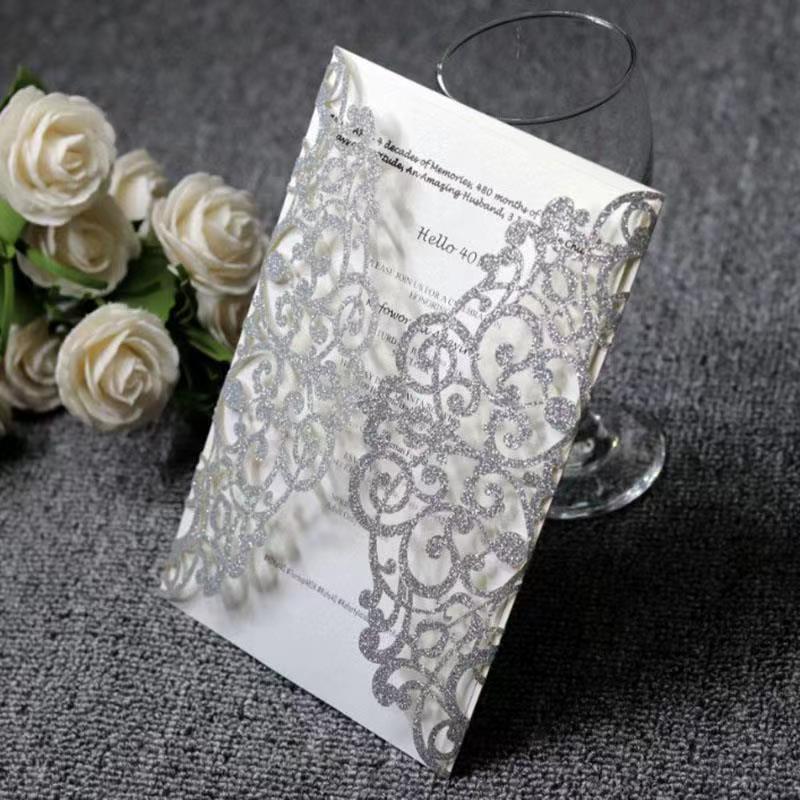 Fontes do casamento do projeto Da Flor Oco Cartão Do Convite Do Casamento Cartão com Fita