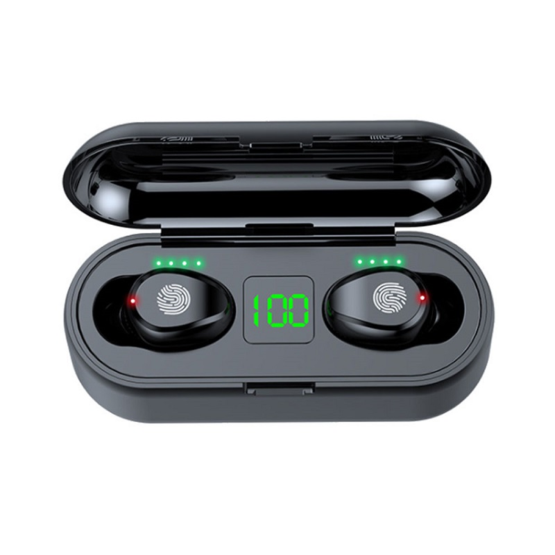 Hot F9 TWS Earbuds Long Working Time Earbuds F9 TWS Earbuds F9 With LED Battery Display