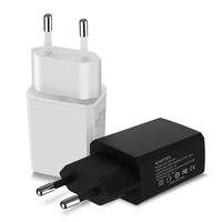 Mobile phone accessories 18W 5v 1a 2a usb wall charger with wireless power bank portable charger kc fcc qc3.0 amazon top seller