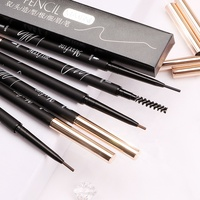 MAXFINE Custom Logo Own Brand Makeup Thin Eye Brow Pencils Retractable Slim Eyebrow Pencil Private Label