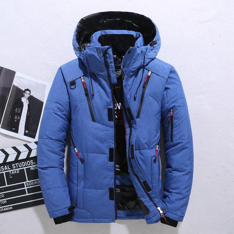 무료 배송 겨울 자켓 남성 두건 두꺼운 따뜻한 오리 코트 남성 자켓