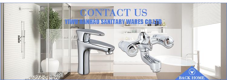 オンライン卸売ウォールマウントデザイン衛生シンクタップ & ダブルハンドルコールドとホット水ミキサー蛇口水タップ