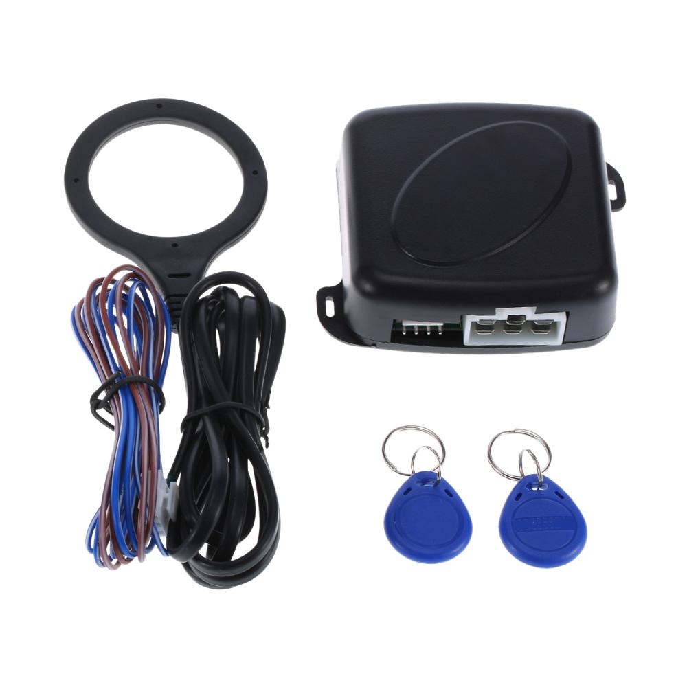 Auto del coche de alarma botón pulsador de arranque de motor RFID cerradura de encendido de entrada sin llave de arranque y parada inmovilizador sistema Anti-robo