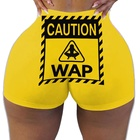 Wap 2020 New Arrivals Womens Shorts Accept Oem Odm High Waist Candy Biker Wap Shorts Snack Shorts