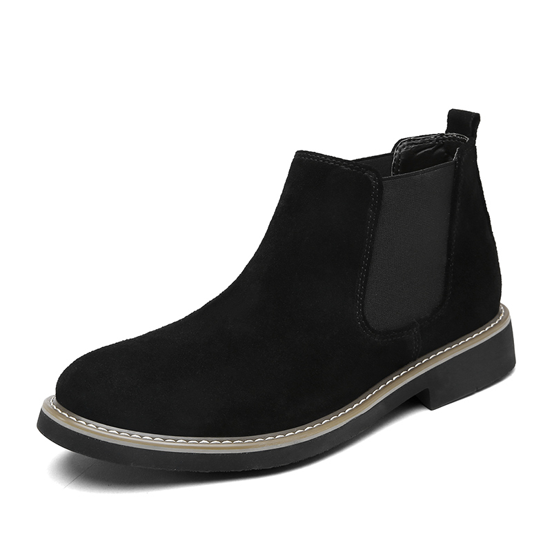 Chelsea High Top Quality Suede Walking Boots Leisure Shoes for Men