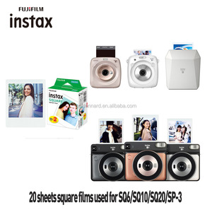 Instant Square  Film FujiFilm Instax   Twin Pack  20 Photo Sheets Include square Border Stickers/Desktop Album/Coloful Frame