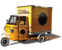 colorful mobile food cart Gasoline electric food truck mini truck with cab food truck for sale