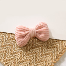 1 шт., заколка для волос ярких цветов с бантиком, милые мягкие хлопковые заколки для волос с узелками для маленьких девочек, корейские милые з...(Китай)