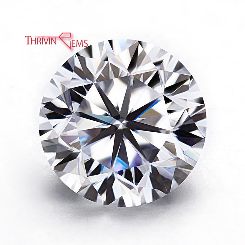 2 Carat 8.0mm 8 Hearts And 8 Arrows Super White Colorless VVS Moissanite Loose <strong>Diamond</strong>