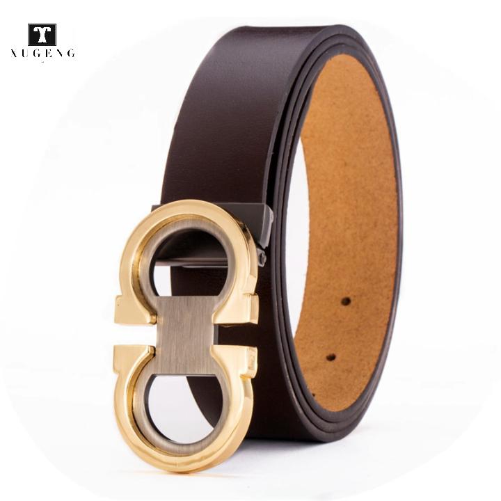 De moda ajustable cinturón de hombre de cuero genuino cinturón para los hombres