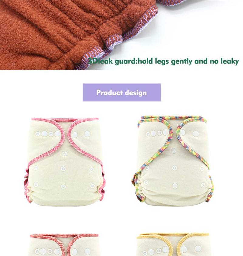 Newborn Baby fitted Cloth Diaper bamboo Charcoal Soft Breathable Bamboo Inner Waterproof Pocket Cloth Diapers