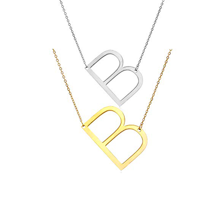 Olivia simple design women custom choker necklaces rose gold name personalised letter initial necklace jewelry