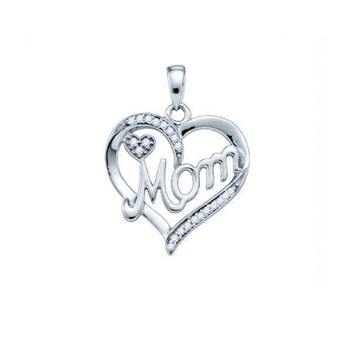charm heart-shaped good quality sterling silver pendant
