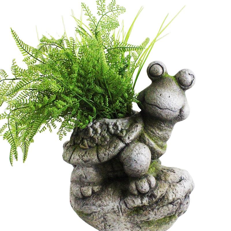 Mini Résine Animal Plante Pot Mignon Tortue Fleur Jardin Décoration Plante