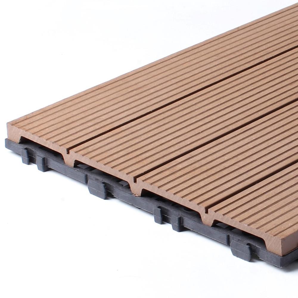 쉬운 설치 유연한 야외 WPC DIY 바닥 타일
