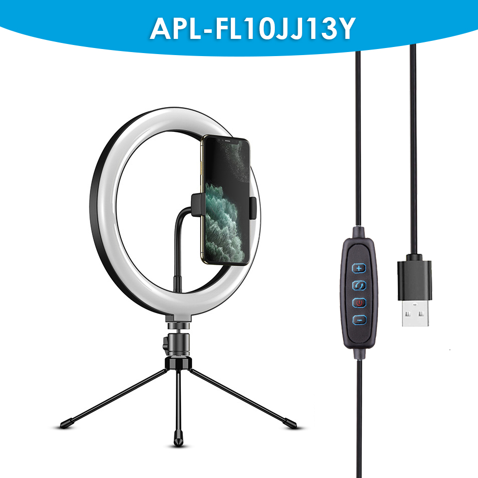 "10 ""/26cm selfie ring light flash mobile photographic circle led ring light with tripod stand"