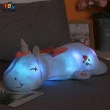 Kawaii, единорог, светодиодный светильник, плюшевые игрушки, мягкие животные, кукольная подушка, подушка для малышей, детей, девочек, подарок на...(Китай)