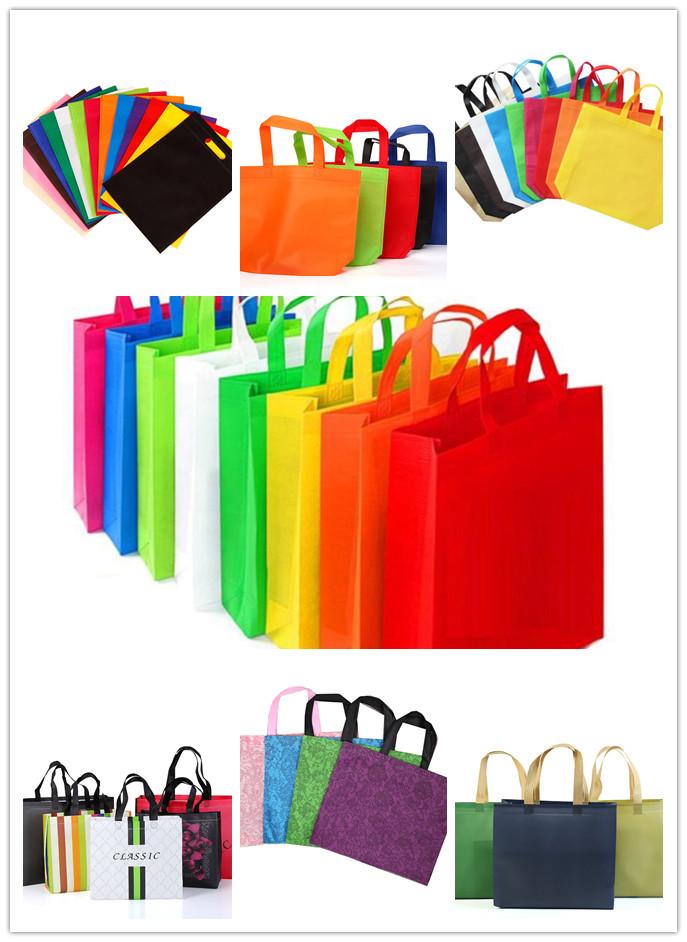Ecofriendly pp spingebonden geweven stof bags draagtassen afbreekbaar geweven stof zakken voor winkelen