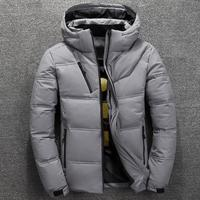 ZY2601A hooded stand collar winter down jacket men