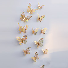 24 шт./компл. 3D пустая бабочка, Настенная Наклейка s для домашней комнаты, DIY арт, 3D бабочка на холодильник, украшение для дома и свадьбы(Китай)