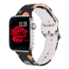 Black rose silicone watch band for apple watch