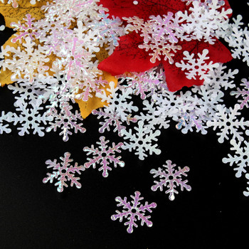 Wonderland Winter Christmas Glitter Decoration Supplies Bright Snowflake Confetti for Wedding Party