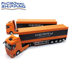 High Quality 1 50 KERRY Truck Model Die Cast Truck Zinc Alloy Car Container Trailer Metal Van Customized Shipping Gift