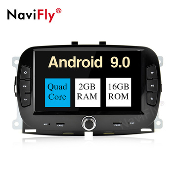 "NaviFly 7"" PX30 Android 9.0 car stereo car DVD player for FIAT 500 2016-2019 car audio system with 2GB+16GB GPS NAVI"