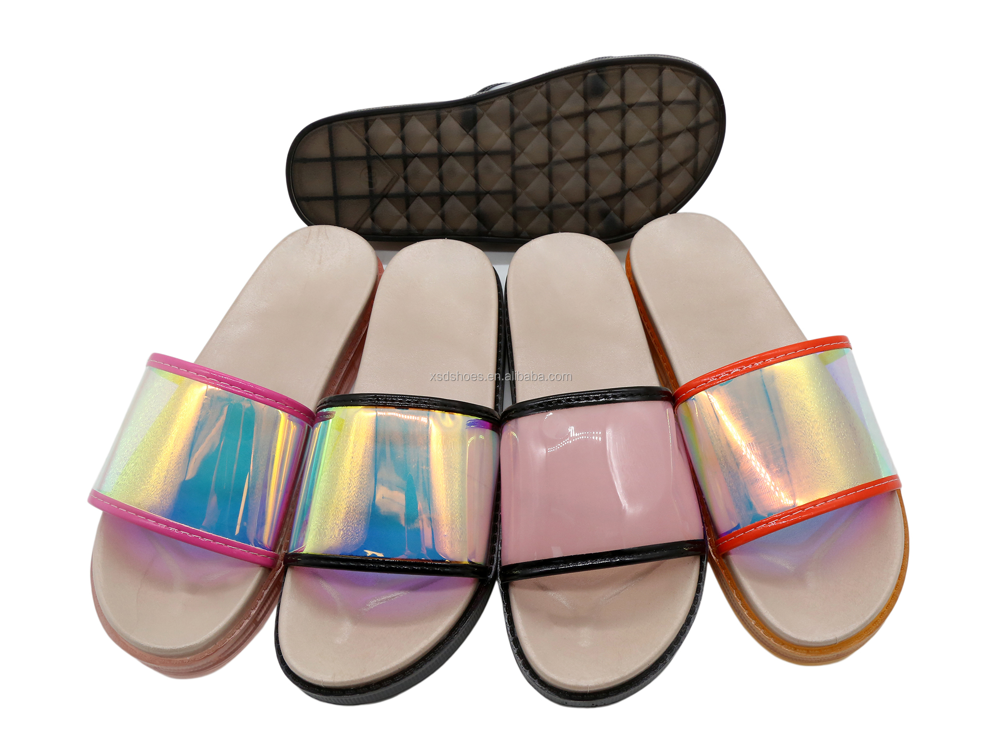 Latest PVC Design Hot Selling Jelly Sugar Color Summer Beach Sandals