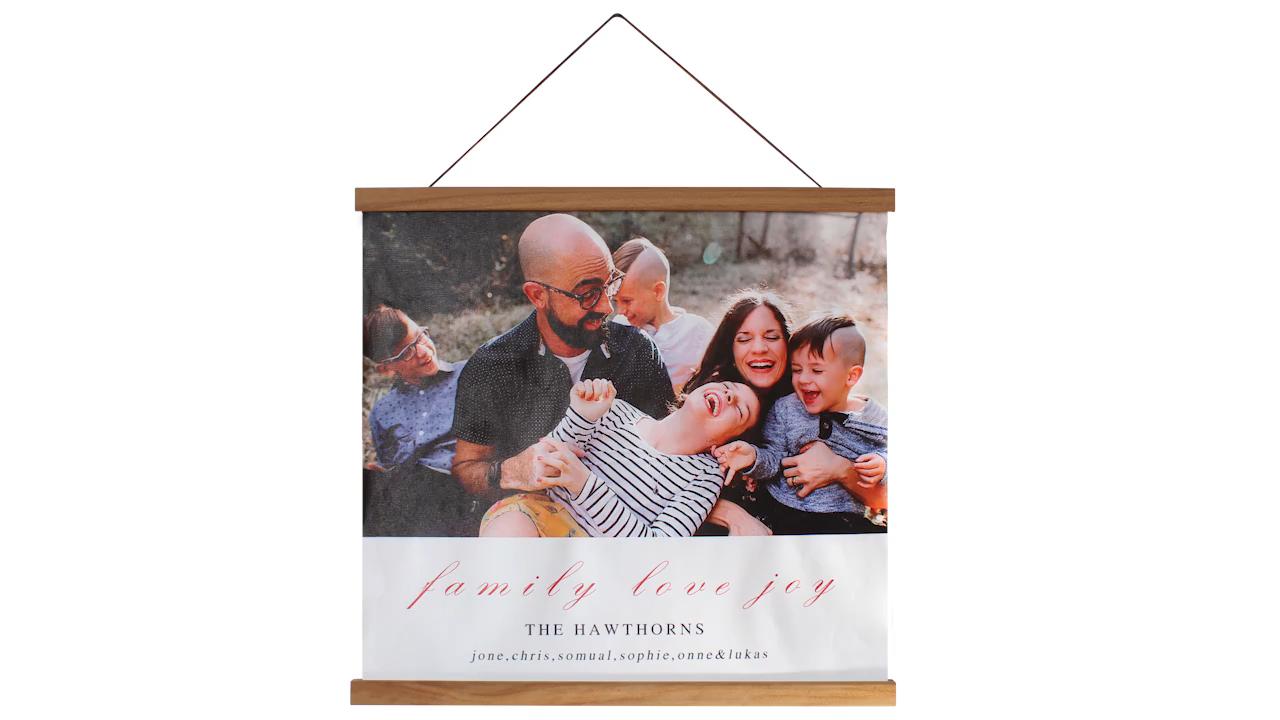 Parete decorativo montare photo frame FAI DA TE poster gancio di legno di trasporto libero magnetico della tela di canapa pittura di scorrimento