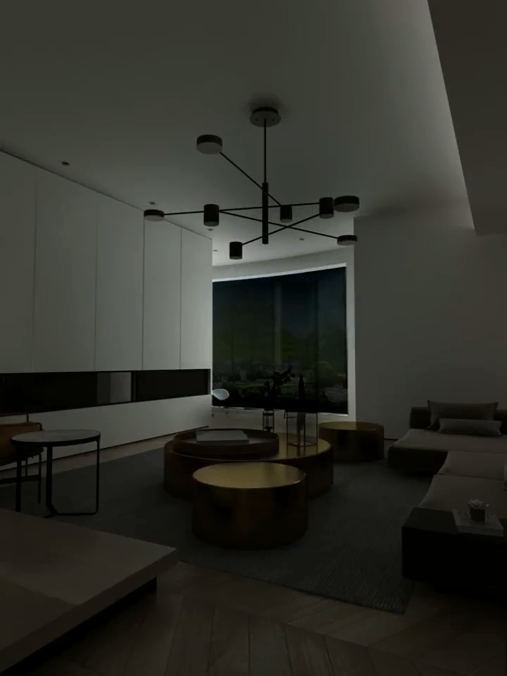 Nordic modern home led dimmable chandelier golden black living room decoration lighting
