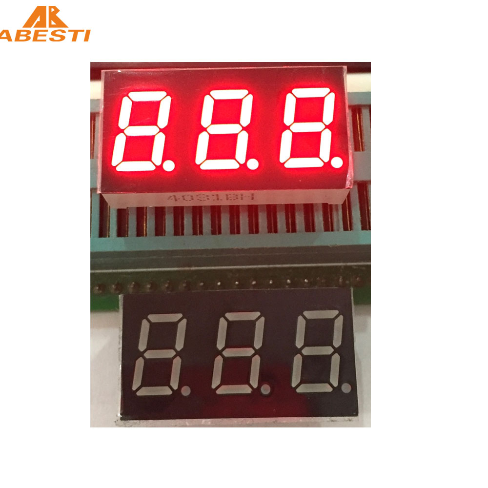 0.4 inch 7 segment led display 3 Digit led Nixie buis