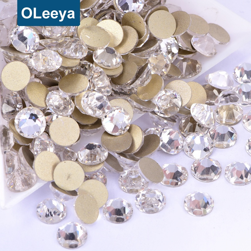 Highest Quality 2088 16 Cut Facets Flat Back Crystals SS20 Not Hot Fix Rhinestones For Nail Art