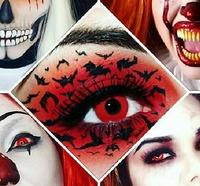 Realcon Wholesale Yearly Cosplay Sharingan Contact Lens Halloween Contacts Crazy Contact Lenses