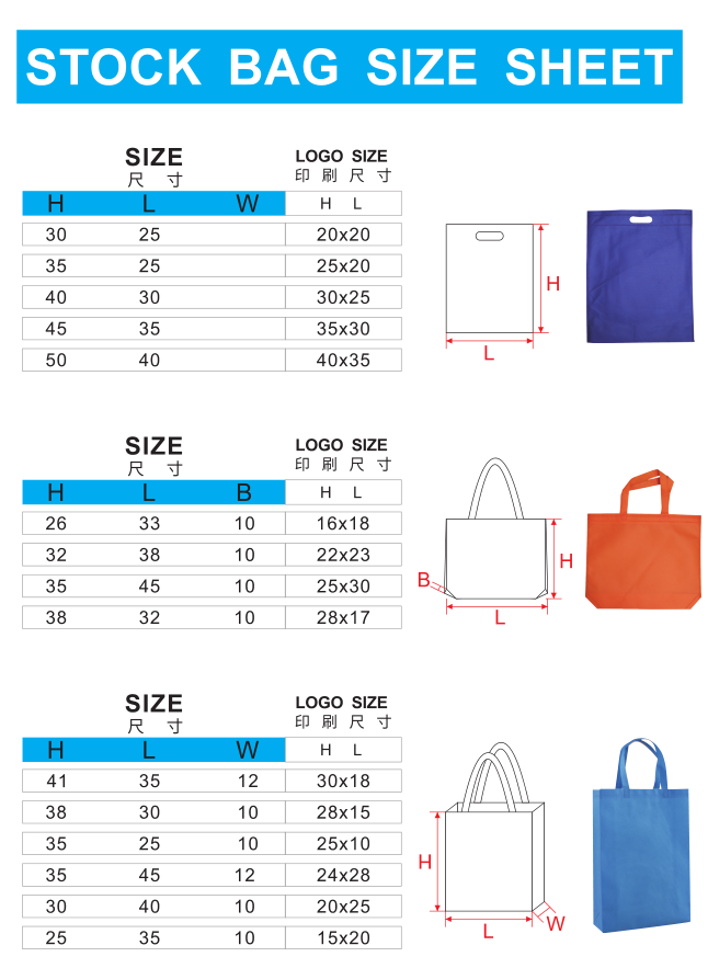 Custom made Promotional cloth grocery bags for advertising or promotion