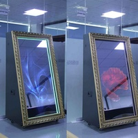62 inch display panel 55 inch touch screen advertising digital photo frame with wheels