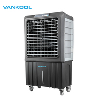 Evaporative industrial air cooler portable water cooler fan with 100L water tank