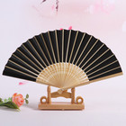 Large Paper Fan Fans Best Selling Chinese Japanese Plain Color Bamboo Large Rave Folding Paper Hand Fan Craft Fans
