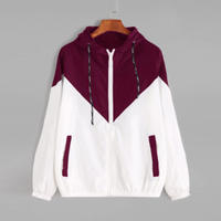 Women Zipper Casual Long Sleeves Jacket Pockets Windbreaker Hoodie Jacket