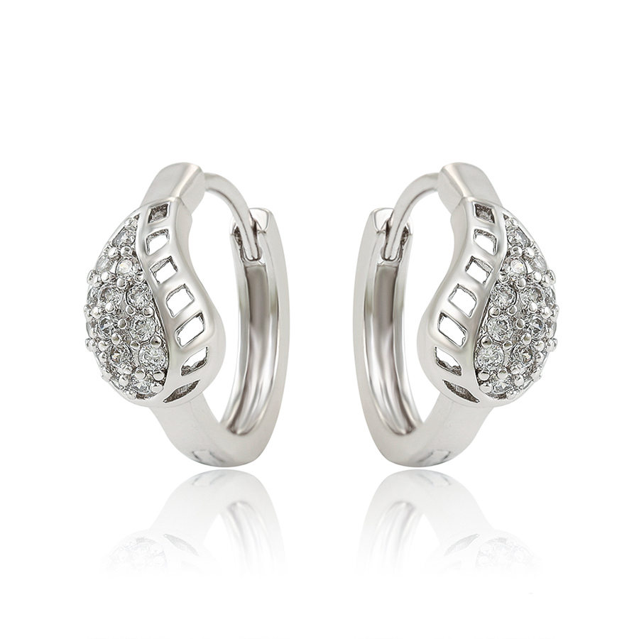 99748 XUPING Classic Silver Color Hoop Earrings, Factory Manufacturer Rhoudium Plated Latin American Style Fashion Jewelry