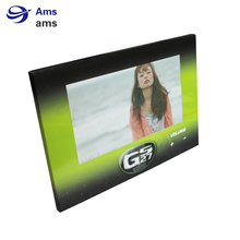 New Product  custom print foldable 7inch shelf video player with stand