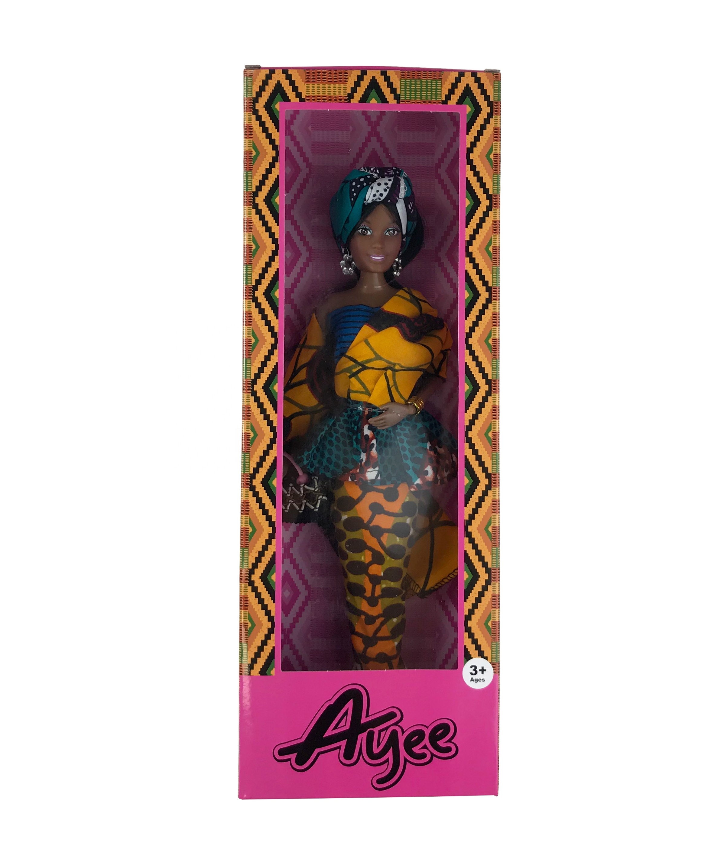 Wholesale custom fashion lovely 12.5 inch vinyl black girl <strong>doll</strong> 4 style assorted