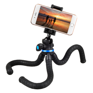 Apexel Camera Phone Tripod Mount Wrappable Leg Action Video Tripod With Remote Shutter Lightweight Mini Camera Monopod Holder