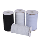 factory wholesales high quality white black color knitted band elastic