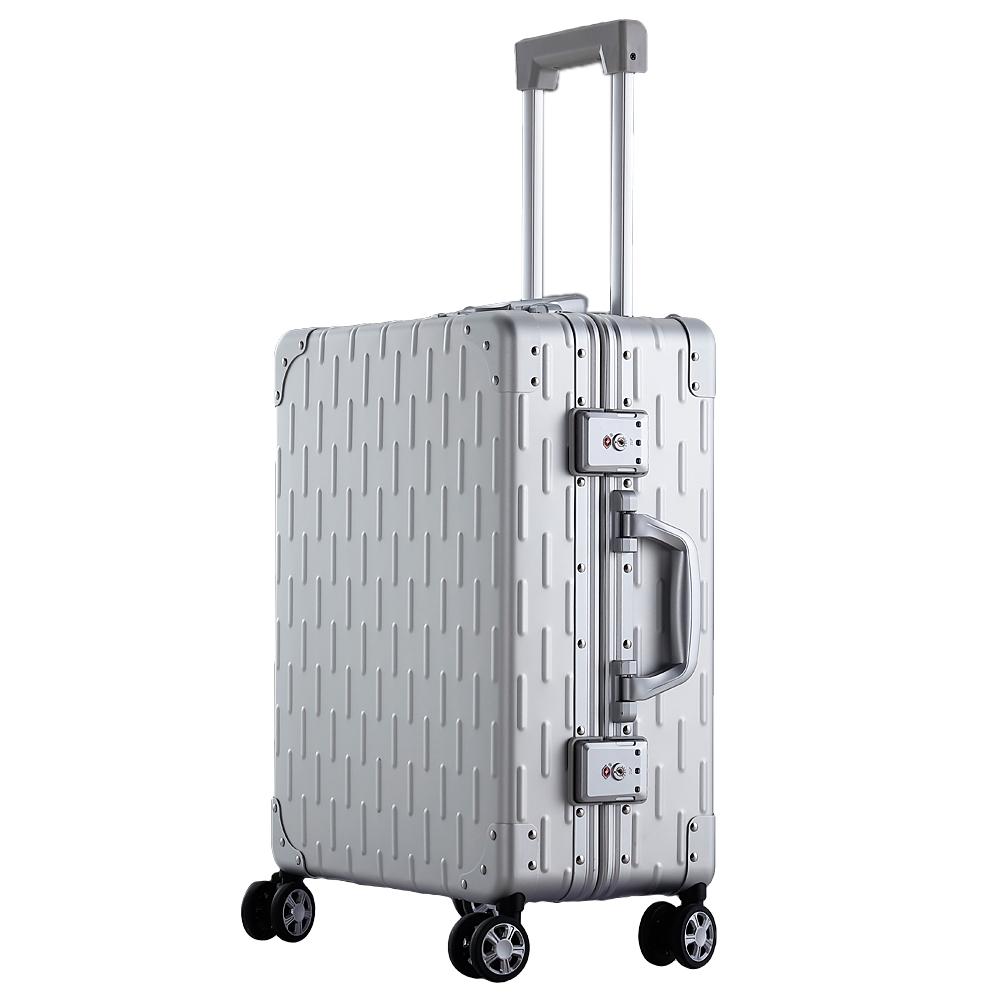 핫 세일 금속 가방 럭셔리 경량 바퀴 하드 트롤리 파일럿 알루미늄 프레임 Suit 여행 상자 여행 상자