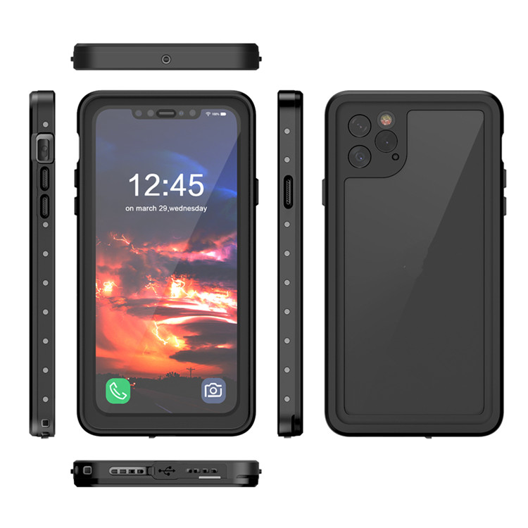 2019 custom logo 360 transparent phone back cover TPU PC ip68 waterproof shockproof cell phone case for iPhone 11 pro <strong>max</strong>