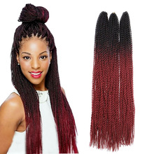 Synthetic Senegalese Nubian Bulk Extension Havana Mambo Twist Crochet Box braids Crochet Braid hair