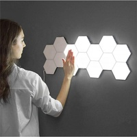 10Pcs/Set New DIY Quantum Hexagonal Wall Light Nightlight Honeycomb Wall Lamp Inductive Touch Studio Dimmer Led Touch Light