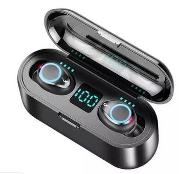 True wireless Earbuds F9 HD Call LED Digital Display Bluetooth Earphone & Headphone With Noise reduction